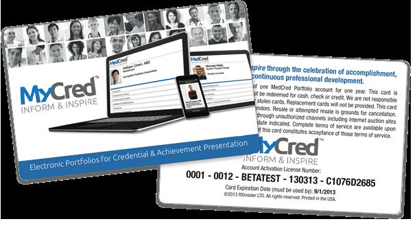 MyCred   Online Presentation Portfolios