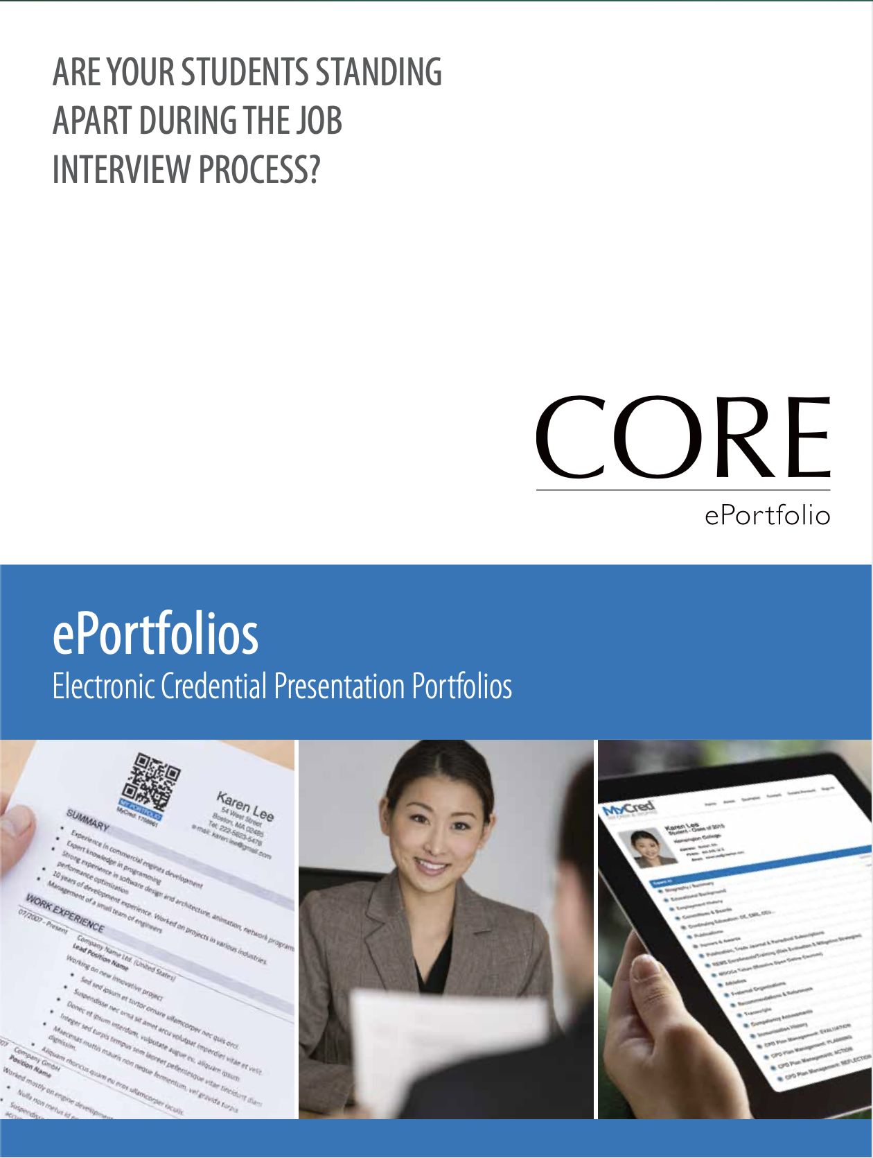 MyCred ePortfolio Features Sheet Thumbnail